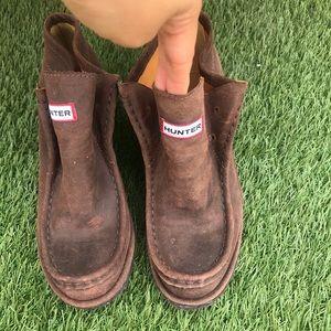 Hunter womens short boots size 6